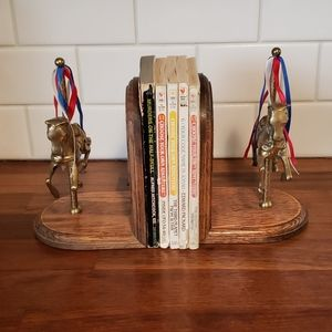 Vintage carousel pony bookends